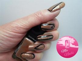 Copper Shimmer Nails