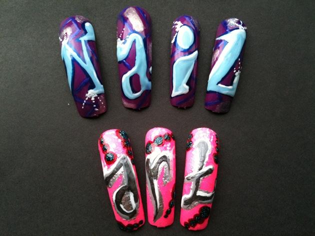 Nail art Graffiti