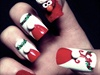 3D Elmo Christmas Nails