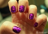 Purple Holographic Swirls