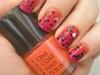 Orange + Purple Gradient Nails