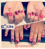 Red Nails Deco
