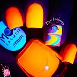 Neon Glowing Watermarble