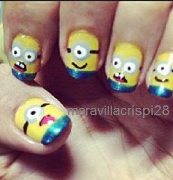 Minionettes Nail art