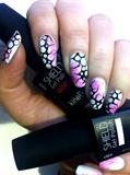 Gel polish Shield nail art