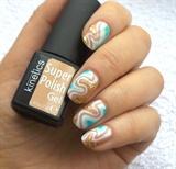 Super Polish Gel abstract nail art