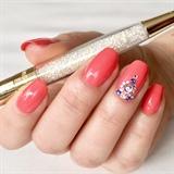 Swarovski crystals nail art