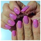 Lilac/Glitter Gel Mani
