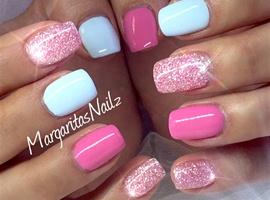 Baby Blue & Pink Diamond