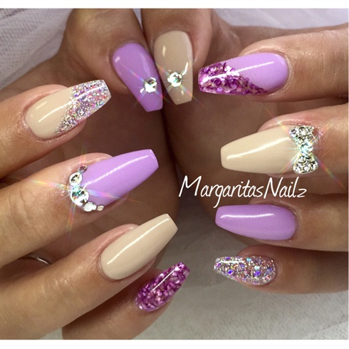 Nude & Lavender - Nude & Lavender - Nail Art Gallery