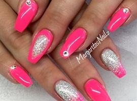 Neon Pink & Glitter Ombré