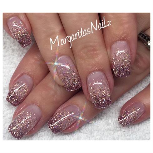 glitter ombré  nail art gallery