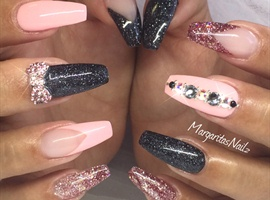 Coffin/ballerina Nails