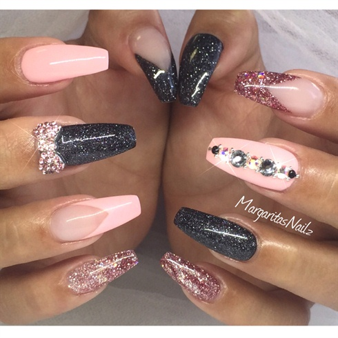 Coffin/ballerina Nails