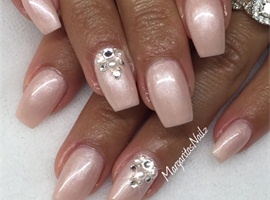 nail art: Pink Champagne