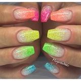 Colorful Ombré Nails