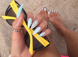nail art: Matching Stilettonails  And Pedi