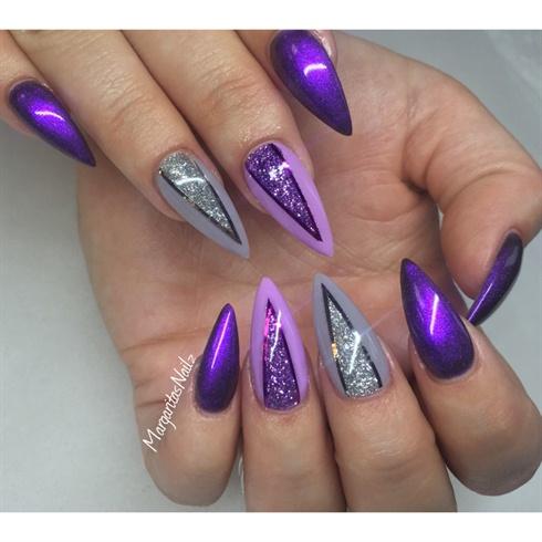 purple stilettos  nail art gallery