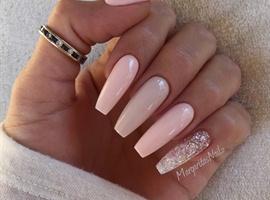 nail art: Nude Ballerina/Coffin Nails