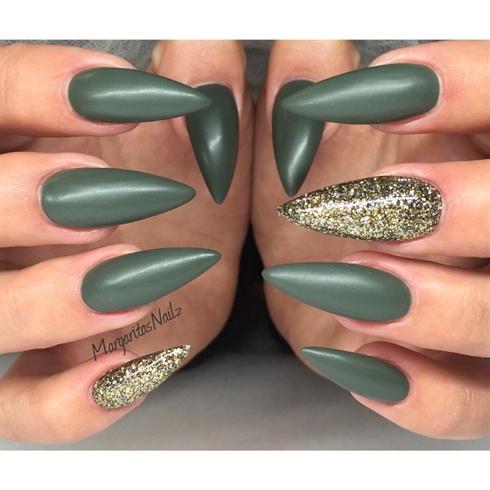 Matte Stiletto Nails