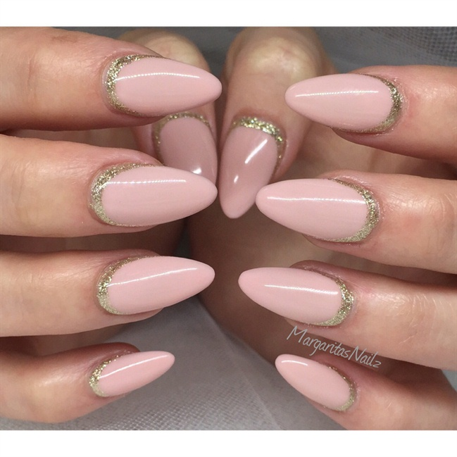 Nude Almond Nails - Nail Art Gallery Almond Shape Nail Art Photos