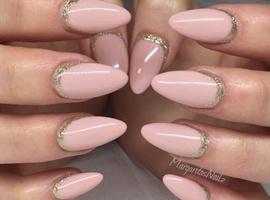 nail art: Nude Almond Nails