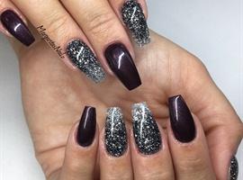 Glitter Ombré Coffin Nails