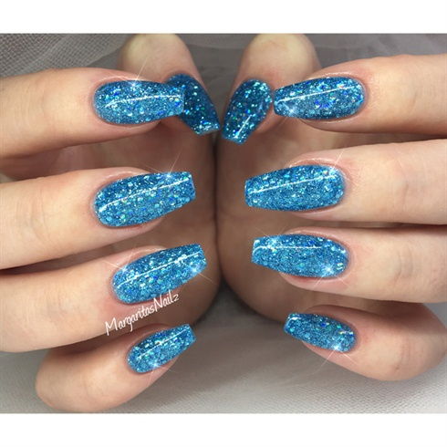 blue glitter nails  nail art gallery