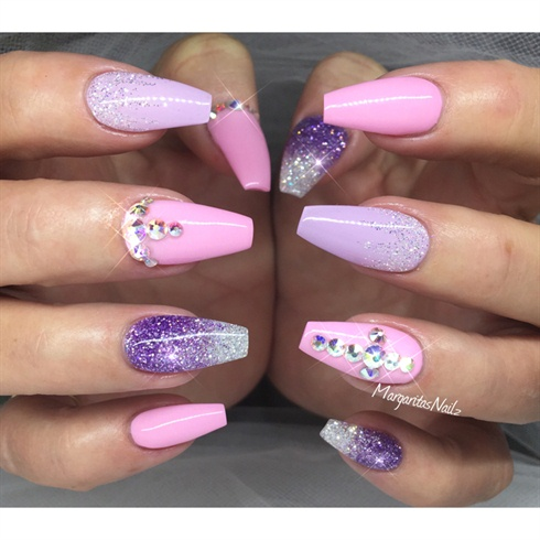 Baby Pink And Purple - Baby Pink And Purple - Nail Art Gallery