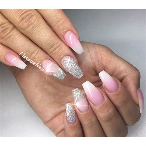 white ombr233 nails nail art gallery