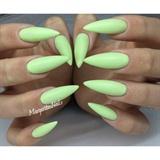 Lime Green Stiletto Nails