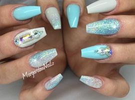 nail art: Spring Coffin Nails