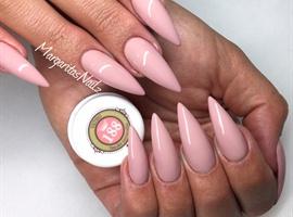 nail art: Nude Stiletto Nails