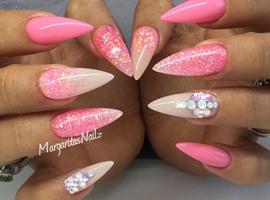 nail art: Pink Stiletto Nails