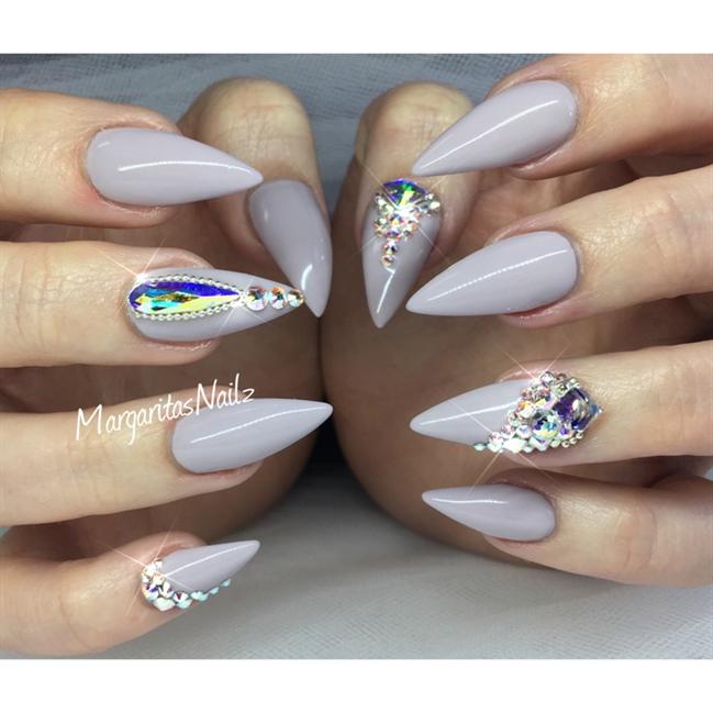 Bling Stiletto Nails - Nail Art Gallery Almond Nails Tumblr