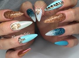 Blue And Copper Glitter