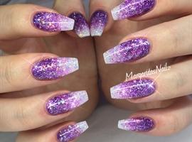 nail art: Purple Glitter Ombré Nails
