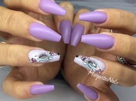 Lavender Purple Matte Nails