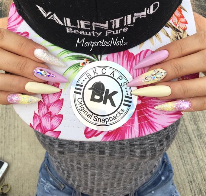 Summer Stiletto Nails - Nail Art Gallery