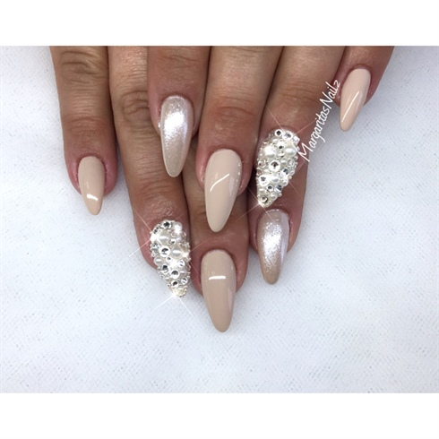 nude almond nails  nail art gallery