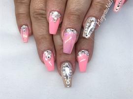 nail art: Summer Coffin Nails