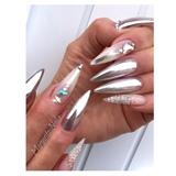 Chrome Stiletto Nails 🌙