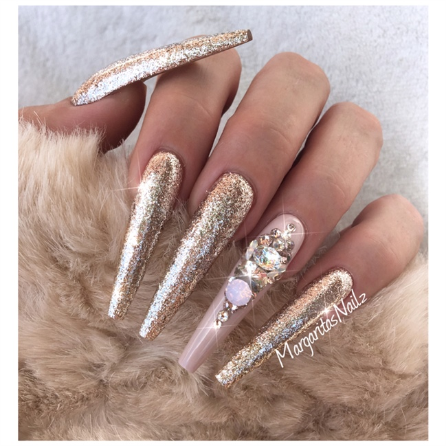 Rose Gold - Nail Art Gallery