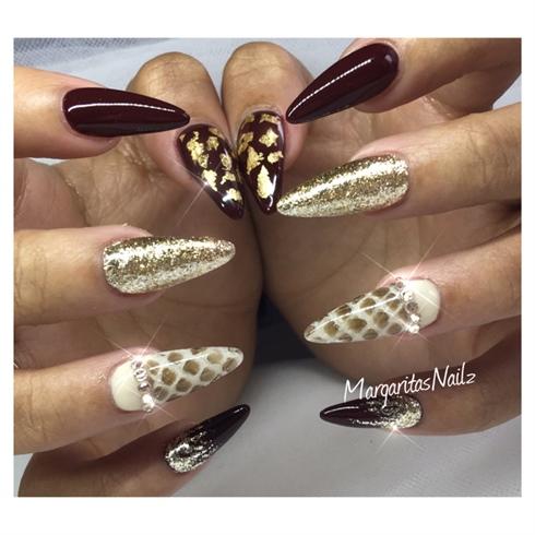 Real Snake Skin Nails