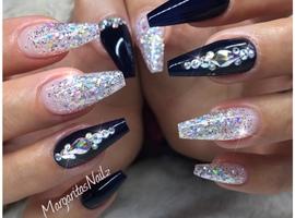Navy Blue & Glitter Ombré