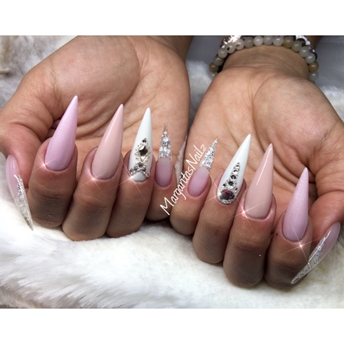 Wedding Stiletto Nails