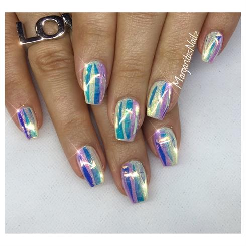 Shiny Glitter Nails