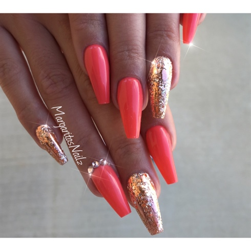 Coral And Rose Gold