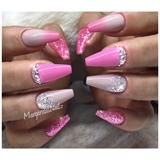 Pink Ombré Coffin Nails