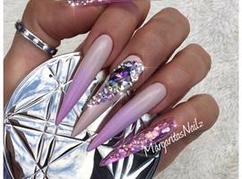 Lavender Ombré Bling Stilettos